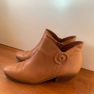 Jack Rogers Camel Leather Booties- Sz 10